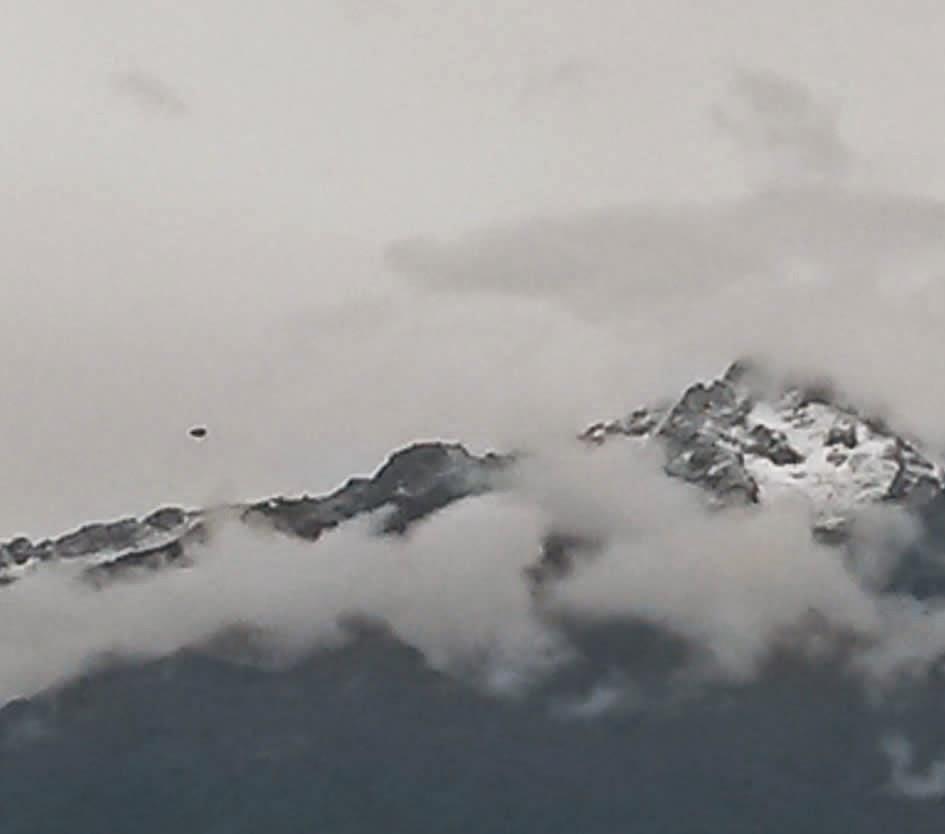Posible objeto volador captado sobre la Cordillera Andina de Venezuela