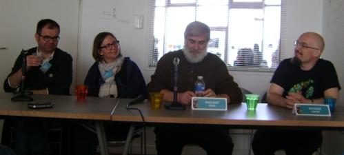 Table-ronde sur l'uchronie, avec Barilier, Gobled, Grousset et Davoust