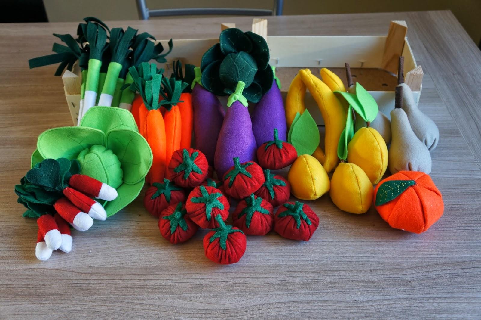 Populaire Les Midinettes en création: Mes légumes en feutrine  VR86