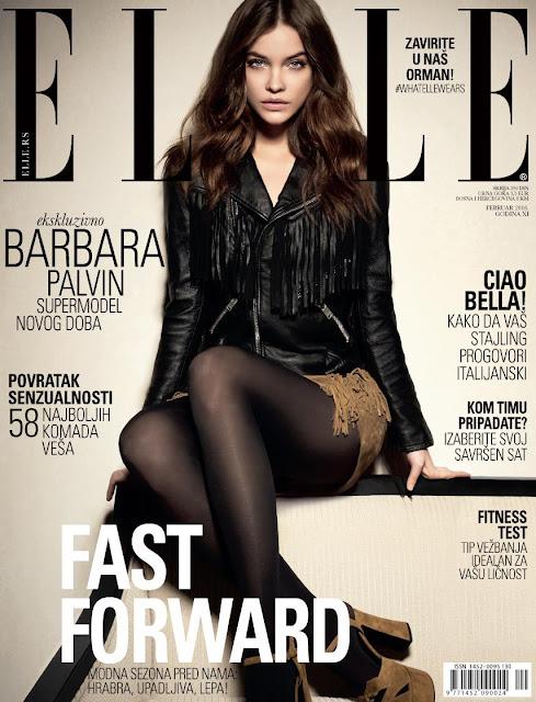 Actress, Fashion Model, @ Barbara Palvin - Elle Serbia, Frebruary 2016