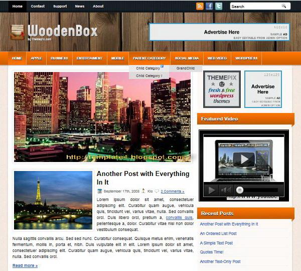 WoodenBox WordPress Theme