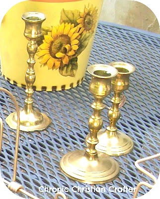 yard sale candle holders