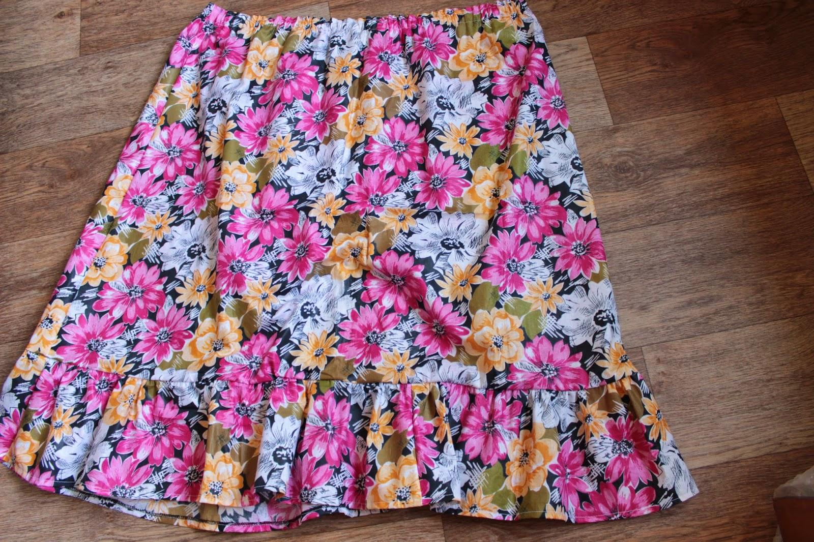 пошив юбки татьянки, мастер-класс пошить юбку, летняя юбка, юбка ситцевая, юбка с оборкой, красивая юбка