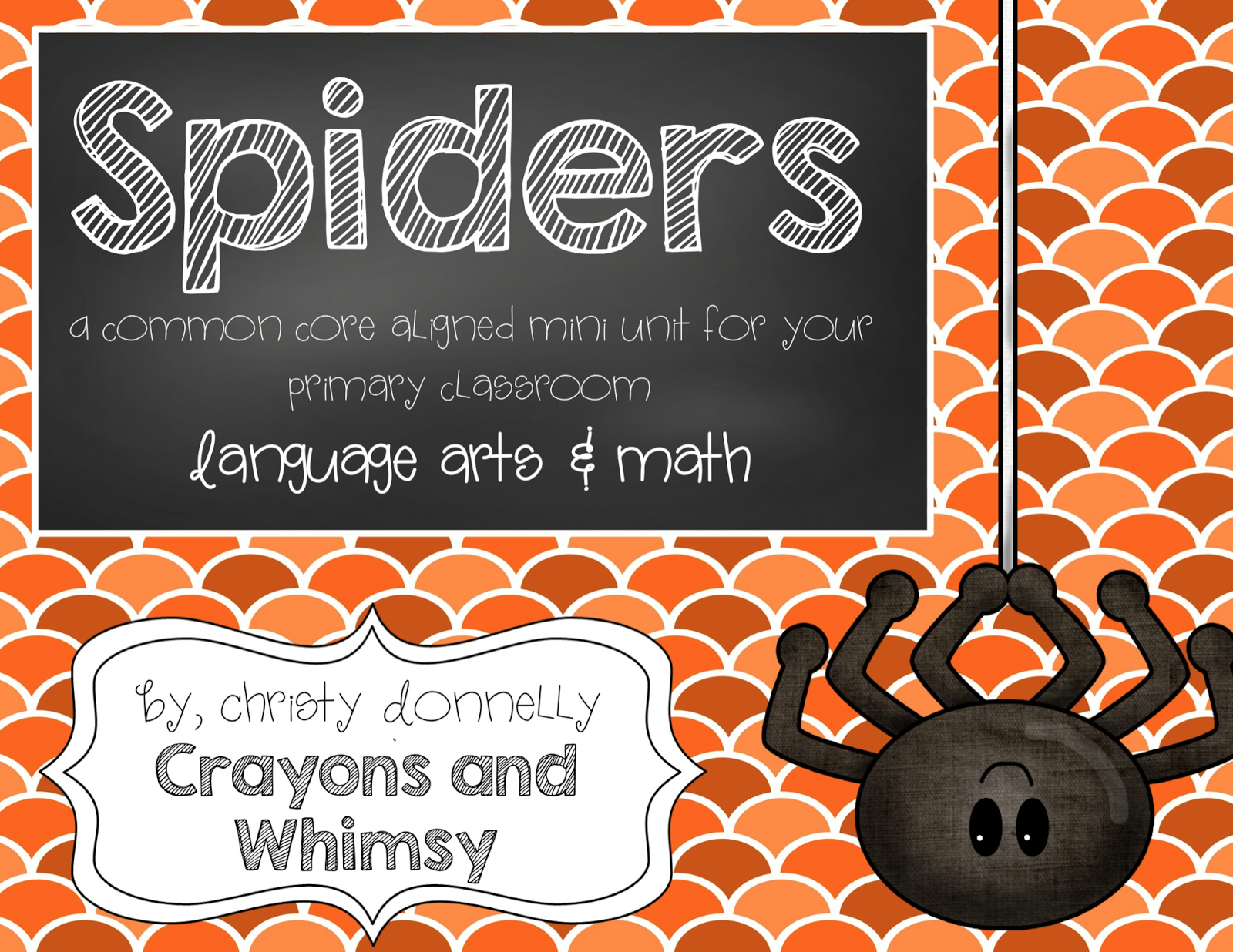 Spiders Mini Unit Crayons and Whimsy