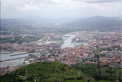 Amplia panorámica sobre el ''Gran Bilbao''