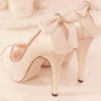 Stunning White Platform High Heel