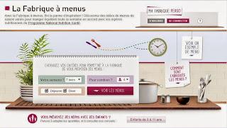 Vos menus avec La Fabrique à menus