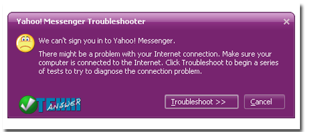 Yahoo messenger cannot connect to server