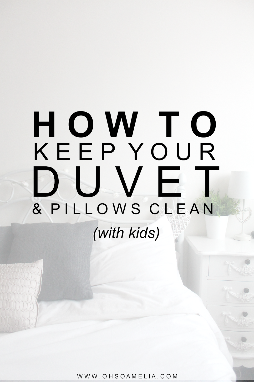 How To Keep Your White Duvet Clean With Kids