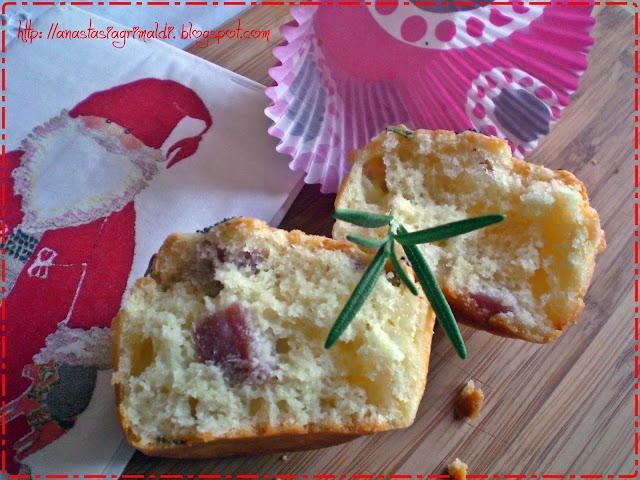 muffin salati con finocchiona e scamorza