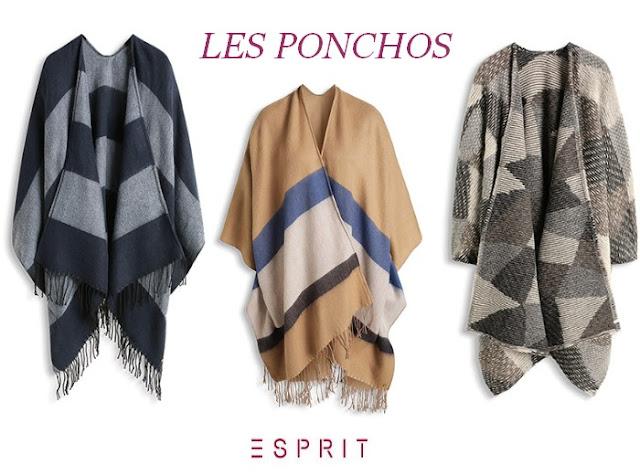 ponchos esprit blog mode bordeaux look hiver