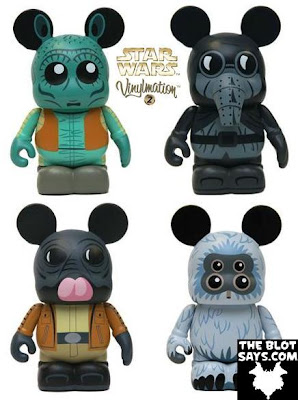 Star Wars Vinylmation Series 2 - Greedo, Garindan, Ponba Baba & Muftak