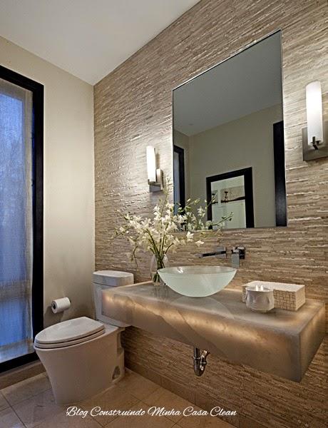 Construindo Minha Casa Clean 55 Lavabos de Luxo!!! Pequenos e Sofisticados! -> Banheiro Pequeno E Luxuoso