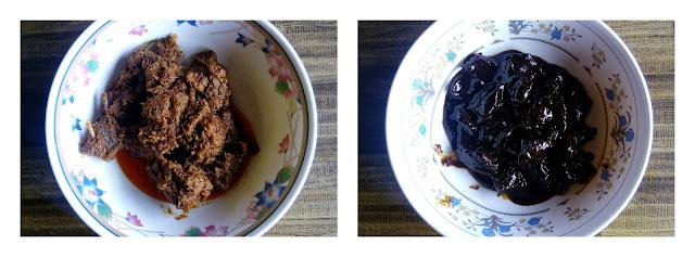 Hidangan daging Rusa dan daging landak