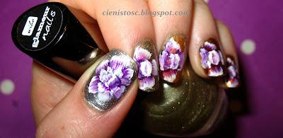 Kwiaty one-stroke