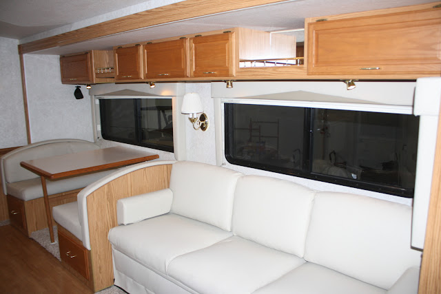 RV BEFORE with brass fixtures :: OrganizingMadeFun.com