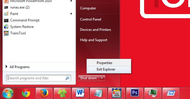 Cara Menutup dan Merestart Explorer.exe pada Windows
