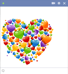 Colorful Heart Facebook Emoticon
