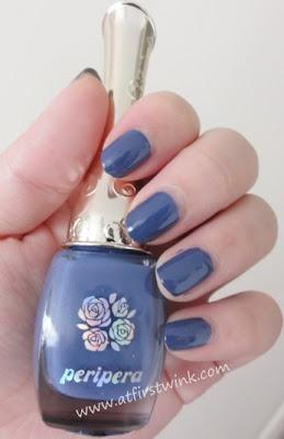 Peripera nail polish BL608