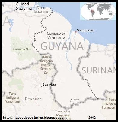 Mapa de GUYANA, BING