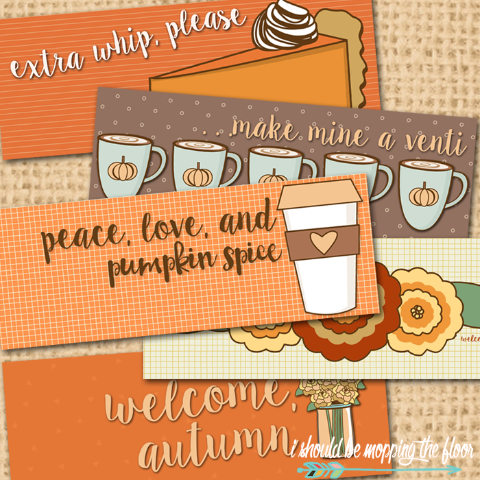 Free Autumn Facebook Timelines | Five styles to FALL-up your Cover | Instant Downloads