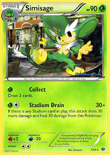 Simisage Next Destinies Pokemon Card