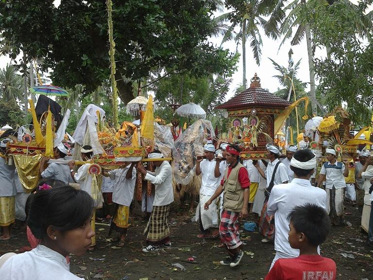 Melasti ritual in Bali