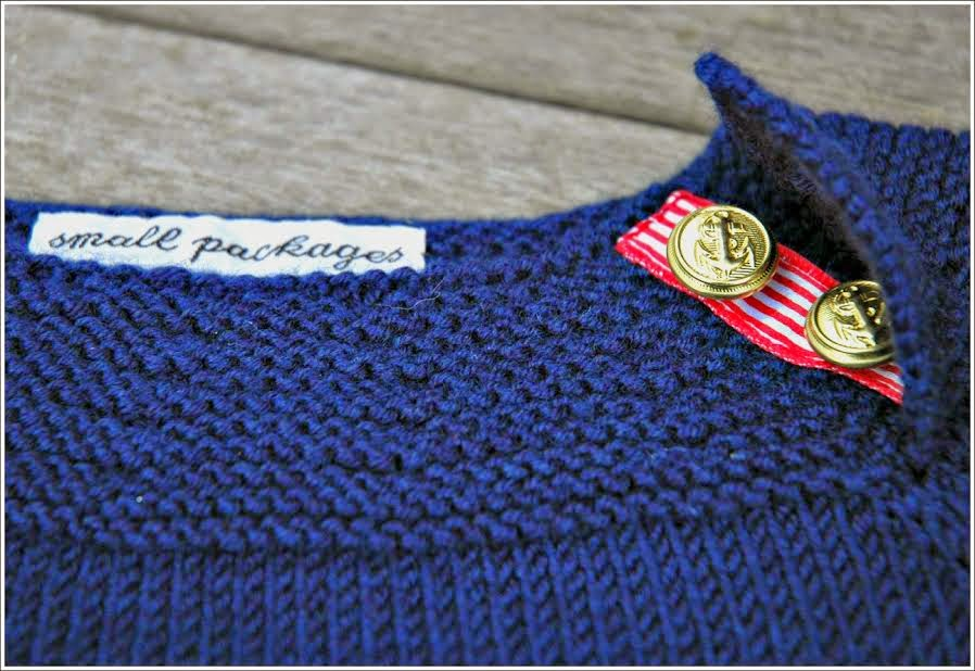 La petite nautical sweater small packages knits