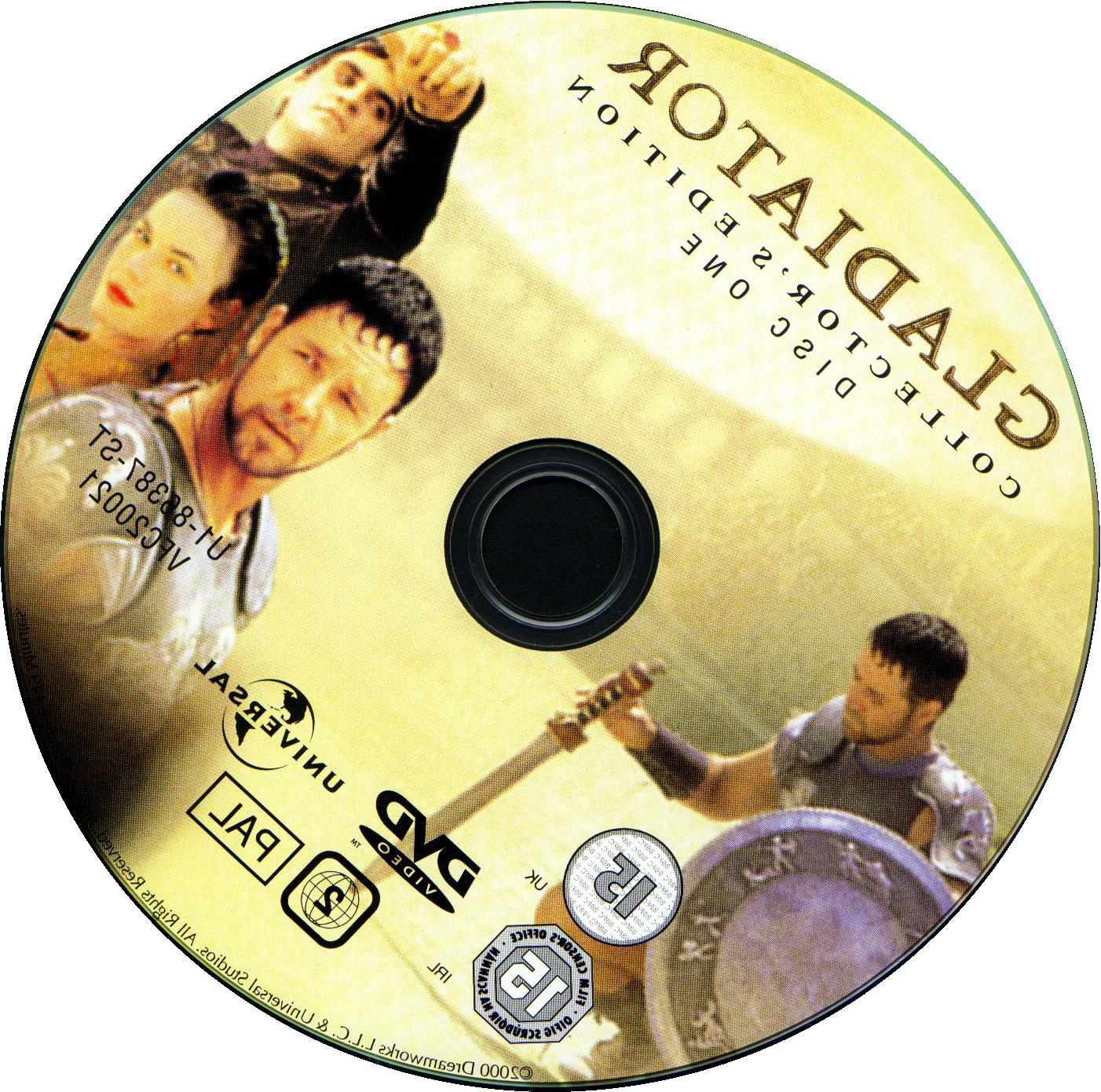 Gladiator Dvd Label