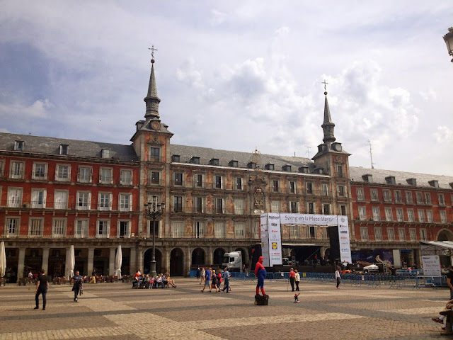 Plaza Mayor in Madrid on Semi-Charmed Kind of Life