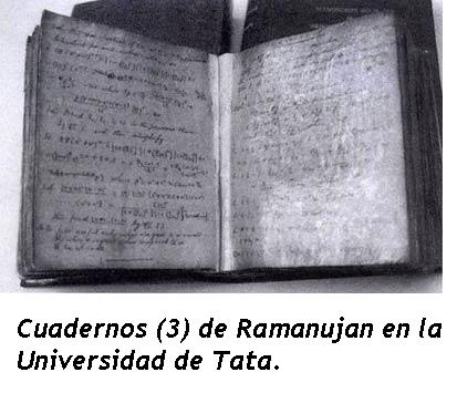 Resultado de imagen de Las libretas perdidas de RAMANUJAN