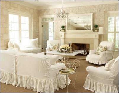 Romantic Style Living Room Design Ideas