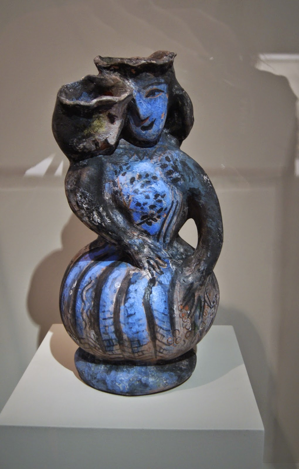Gardiner Museum of Ceramic Art in Toronto, Artmatters, Culture, Ontario, Canada, MelaniePs, The Purple Scarf, Camp Fires, Exhibit, Exhibition, Joy of collection, marc chagall, lovers