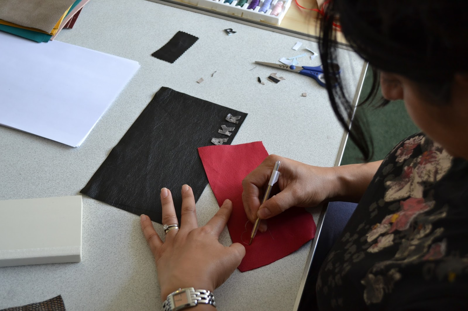 Meloleather Personalised Leather Book Workshop London 3/8/13