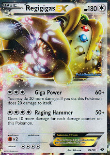 Regigigas EX Next Destinies Pokemon Card