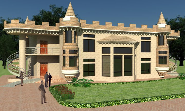 Front Elevation Images Download : D front elevation exterior render