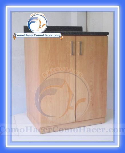 Muebles de cocina construcci n web del bricolaje dise o diy for Como armar muebles de mdf