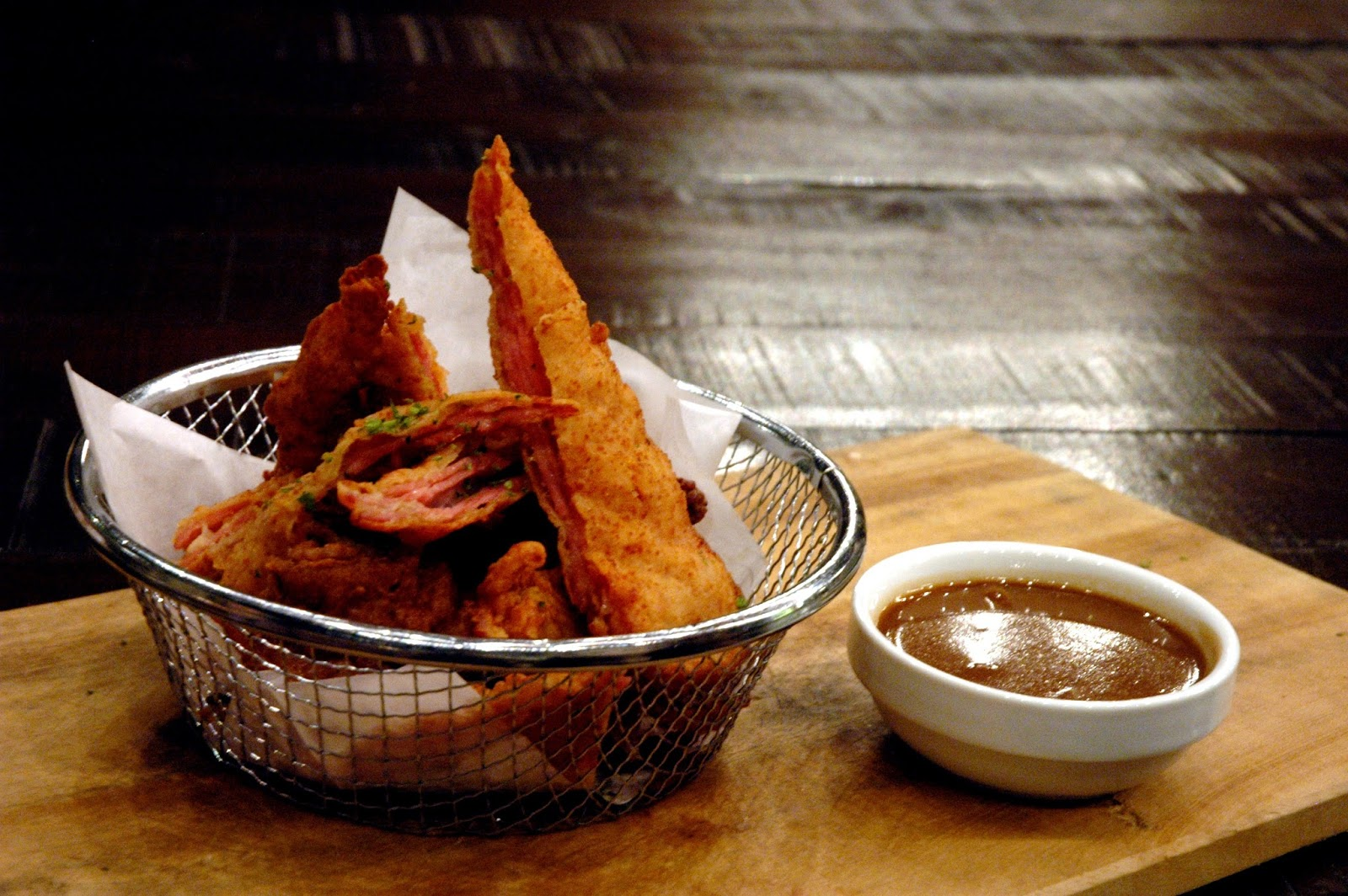Fried Bacon (P 250), thick-cut and smoky bacon deep-fried to crispy ...