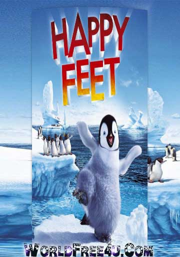 Poster Of Happy Feet (2006) In Hindi English Dual Audio 300MB Compressed Small Size Pc Movie Free Download Only At worldfree4u.com