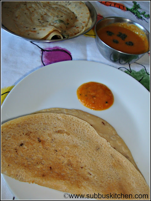 Wheat Flour Dosa(Goduma Dosa)