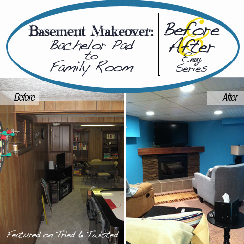 Basement Makeover: Before & After Envy Series | Tried & Twisted