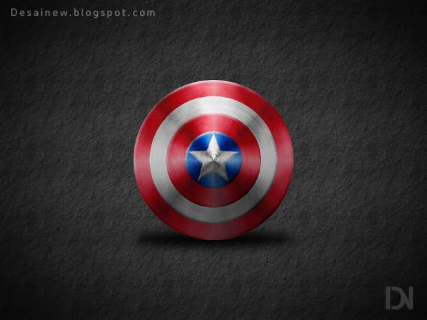 Captain America Shield in Gimp, tutorial membuat desain tameng kapten amerika di gimp alternatif photoshop