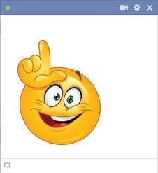 Facebook Smiley Gesturing Loser With Fingers