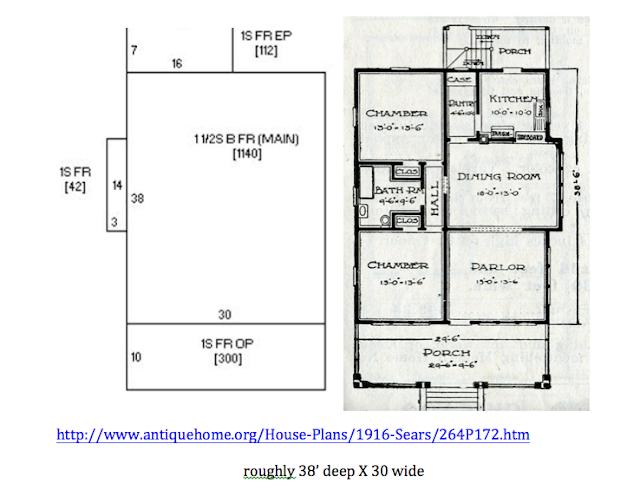 antiquehome.org sears hazelton floor plan 1916