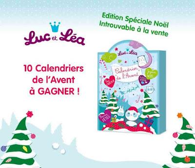 concours calendriers de l'Avent Luc et Léa