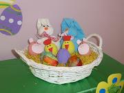 . disfrutando del Taller de Decoración de Huevos y Conejitos de Pascua.