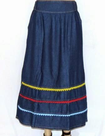 Rok Jeans Renda Warna RM316
