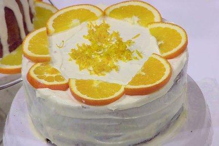 كيكة برتقالي كريمي