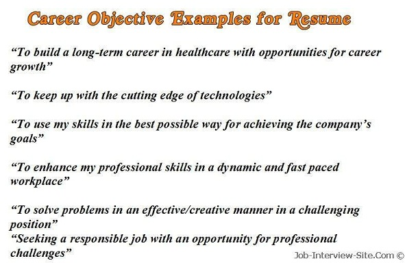 Resume Sample Objective Maintenance Technician Volumetrics Co Sample Resume  Objective Statements Entry Level Resume Objective Examples