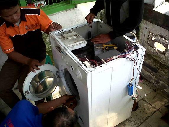 cara memperbaiki pengering pada mesin cuci yang rusak